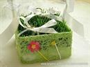 Jastučić za prstenje Košarica s travom