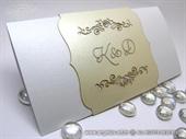 Pozivnica za vjenčanje - Cream True Love - L