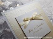 Pozivnica za vjenčanje Trendy Cream