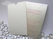 Pozivnica za vjenčanje Charm Cream Rose