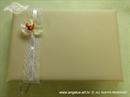 Knjiga gostiju za vjenčanje Krem orhideja