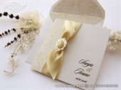 Wedding invitation - Cream Stylish Bow