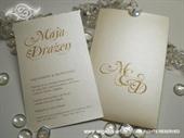 Pozivnica za vjenčanje Pearl Monogram Charm