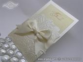 Pozivnica za vjenčanje krem shampagne