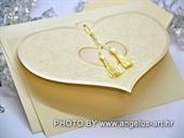 Pozivnica za vjenčanje Heart Shaped 3