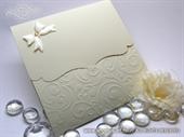 Pozivnica za vjenčanje - Beige Curly Classic