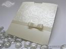 Pozivnica za vjenčanje - Cream Bow Charm1
