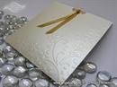 Pozivnica za vjenčanje Cream Flower Charm Plus