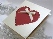 Pozivnica za vjenčanje - Red Heart shaped