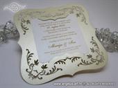 Pozivnica za vjenčanje - Cream Frame Shape - L