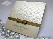 Pozivnica za vjenčanje - Golden Ornament Charm