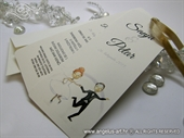Wedding invitation -Wedding Bookmark
