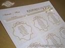 Zlatni raspored sjedenja s damask uzorkom - Golden Damask