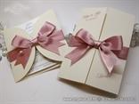 krem roza pozivnica zahvalnica komplet