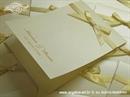 Zahvalnica za vjenčanje Krem mašnica