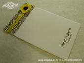 Zahvalnica za vjenčanje Suncokret u mreži