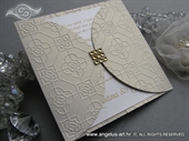 Wedding invitation - Gold Crystal Diva