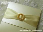 Pozivnica za vjenčanje Cream Elegance