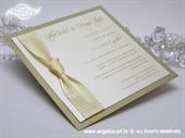 Wedding invitation - Lovely in Cream
