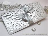 Pozivnica za vjenčanje - Luxury Silver Letter