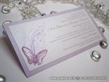 lavanda pozivnica s lila leptirom i tiskom