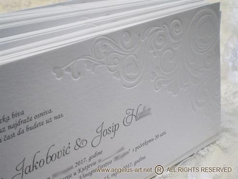 White letterpres elegance
