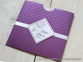 Pozivnica lila - Dots Flower Charm