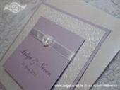 Pozivnica za vjenčanje Trendy Lila srce