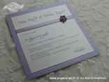 lila pozivnica za vjenčanje s perlama