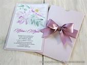 Pozivnica za vjenčanje lila -Lilac Flower Charm