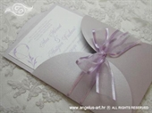 Wedding invitation - Light Lilac Beauty