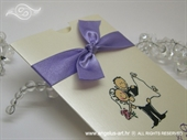 Pozivnica za vjenčanje Happy Lilac Charm