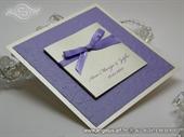 Pozivnica za vjenčanje Trendy Lilac Flower