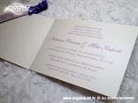 ljubičasta lila pozivnica s tiskom i 3D strukturom