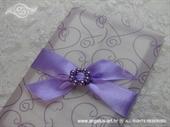 Pozivnica za vjenčanje Purple Love