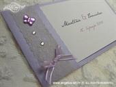 Pozivnica za vjenčanje Vintage Purple Butterfly