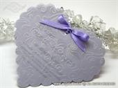 Pozivnica za vjenčanje - Purple Heart Shape 2