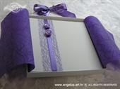 Pozivnica za vjenčanje Purple Fairy Tale Book