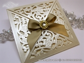 Wedding invitation - Luxury Cream Beauty