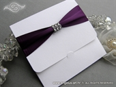 Wedding invitation - Purple Saten New Classic