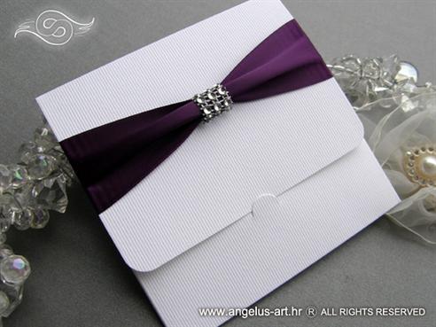 moderna ljubicasta pozivnica za vjencanje sa cirkonima