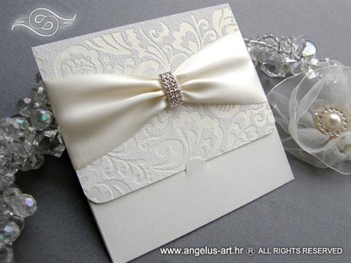 moderna luksuzna ekskluzivna pozivnica za vjencanje bez perlasta