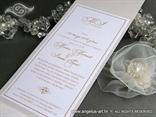 moderna pozivnica za vjencanje krem bijela