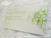 Pozivnica za vjenčanje Green Line