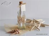 Pozivnica za vjenčanje Poruka u boci - Natural morska zvijezda