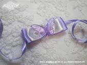 Kitica ili rever za vjenčanje Leptirov let - ljubičasta