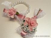 Kitica narukvica za vjenčanje roza ruža