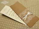 Pozivnica za vjenčanje - Vintage Bookmark Lace