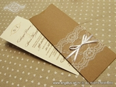 Wedding invitation-VINTAGE BOOKMARK LACE