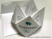 Wedding invitation - Origami Fortune Teller-2
